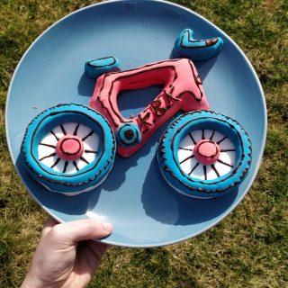 kbk fiets in chocoladebiscuit